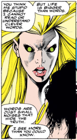 Meggan is so badass. (Excalibur #56)